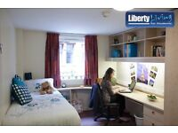 Student Flat, Liberty Living Glasgow, ensuite, double bed, Summer Accomodation