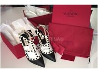 *AUTHENTIC * Valentino Rockstud * NOT WORN WITH TAGS* Size 5 (38) *ONLY £530*
