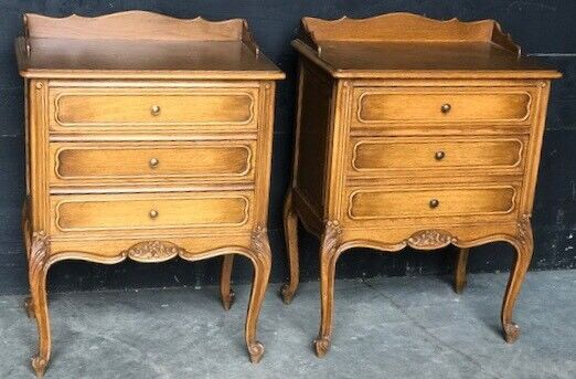 Pair French Bedside Cabinets or Chests circa 1920