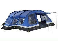 Frontier 8 Tent with carpet and footprint.
