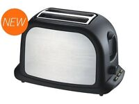 Stainless Steel Low Wattage Electric Toaster ideal Caravan Motothome Boat BRAND NEW STOCK CLEARANCE