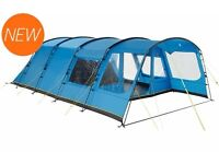 HIGH GEAR OASIS 6 BERTH FAMILY TENT WITH EXTRA PORCH EXTENSION ONLY USED TWICE