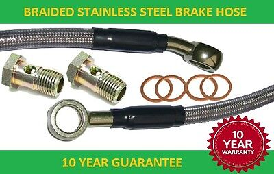 Motorcycle Braided stainless steel Brake Hose 132.5 cm long