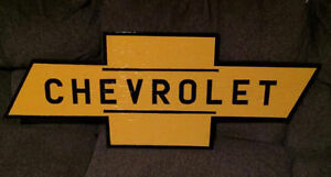 Large Chevrolet Sign.