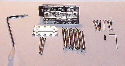 Fender® Vintage Chrome Bridge Assembly Strat 2 1/16th`s Big Block Brand New