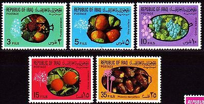 IRAK IRAQ 1970  MI.623/27 FRCHTE FRUITS ORANGE GRAPEFRUIT DATTELN DATES
