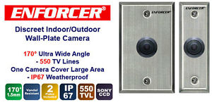 Enforcer-550TVL-170-Degree-VandalResistant-WALL-PLATE-Color-Camera-FREE-Shipping