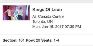 Kings of Leon Jan 16 Toronto. Aisle seats Alcohol Section.