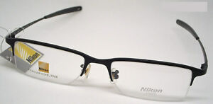 NIKON TITANIUM GLASSES/EYEGLASS PRESCRIPTION HALF RIM FRAME black 8906