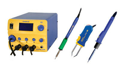 Hakko Fm206-sta Rework Station 3-port 120vac With Fm-2027 Fm-2022 Fm-2029