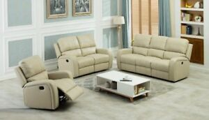BRAND NEW LEATHER RECLINING SOFA SET (COUCH+LOVE SEAT) ON SALE