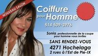 Salon Coiffure pour Homme Montreal Coiffeuse Sonia