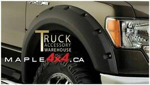2009-2014 Ford F-150 4pcs Pocket-Riveted Style Fender Flare
