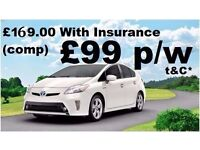 PCO Toyota Prius with insurance Uber Ready TOYOTA Prius Rental PCO Rent PCO Hire Toyota Prius