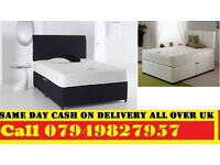 Double Divan Bed With Deep Quilt Matrs . Single, Small Double , kingsize