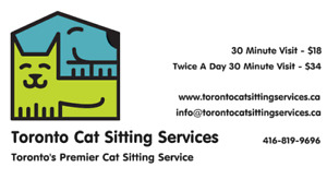 Toronto Cat Sitting Services - Booking Now For Christmas!