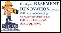 Need Basement Renovations Done??  Look No Further!!