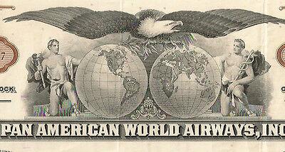 Pan American World Airways Aktie 1964 USA Fluglinie Luftfahrt Flugzeug Transport
