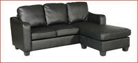 NEW IMITATION COMPACT SECTIONAL SOFA W/ BOTH SIDE CHAISE