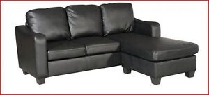 FREE DELIVERY ON COMPACT SECTIONAL SOFA W/ BOTH SIDE CHAISE