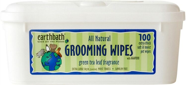 Earth Bath Grooming Wipes Green Tea 100 ct