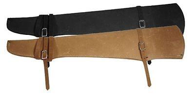 Leather Shotgun Rifle Gun Case Scabbard Holster for Storage in Car Horse House (Leather Gun Scabbard)
