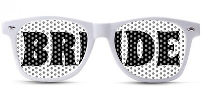BRIDE CUSTOM SUNGLASSES WEDDING NERDY SEXY NOVELTY PARTY FAVOR