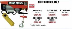 Palan Électrique,la solution de levage pour petit atelierPeu dispendieuxPrix a partir de $184.95 selon capacité