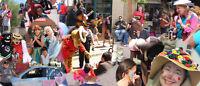 Looking for street performers - clowns, jugglers, superheros etc