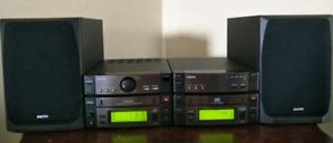 Sanyo cd fm cassette stereo bookshelf receiver