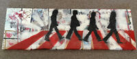 Handmade painting of The Beatles