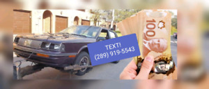✔Cash for Scrap Cars SMS/CALL (289) 919-5543 Junk Car