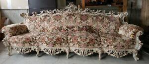 Beautiful antique couch and coffee table