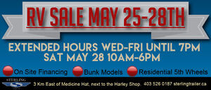 RV Lot Liquidation Sale  May 26,27,28 SAVE $$