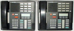 2 Sets Used Nortel Meridian M7310 Phone NT8B20AB-03, Black