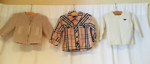 Designer shirts for baby boy Armani/Burberry