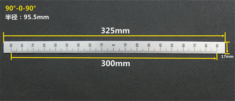 Bridgeport Milling Machine 0-120mm Depth Feed Rod Scale Ruler  Aluminum  B159