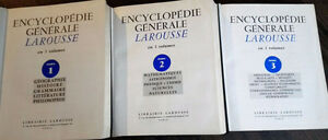 Encyclopédie Larousse en 3 volumes
