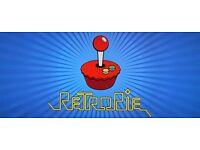 Raspberry pi 3 with 2 snes pads and retropie arcade games