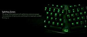 Adesso Tru-Form 150-3-Color Illuminated Ergonomic Keyboard