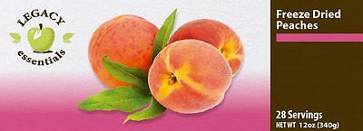 Legacy Premium 28 Servings Freeze Dried Peaches 6-pack. Emergency Food. Freeze Dried Peaches