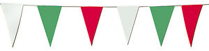 15 METRE LENGTH OF RED, WHITE AND GREEN PENNANT BUNTING - DIAMOND JUBILEE