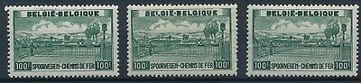 [1246] Belgium 1946 3x good Railway Stamp very fine MNH