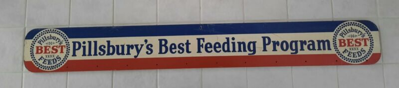 Rare Vintage Pillsbury's Best Feeding Program Advertising Sign Or Wall Rack
