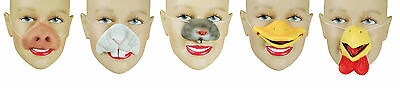 Animal Nose Mask Fun Fancy Dress Easter Costume Instant Animal Latex Accessory - Costume Animal Noses
