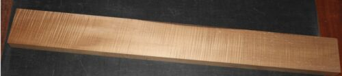 Hades Roasted Maple, 4A Quarter Sawn Flame Bass Guitar Neck Blank