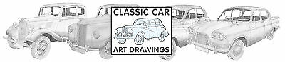 Classic Car Art Drawings