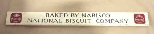VINTAGE NABISCO NATIONAL BISCUIT COMPANY SHELF SIGN
