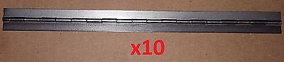 - 10 pc .035 Steel Piano Hinge 9.2 x .75 (3/4) Door/Cabinet/Craft/Wood Continuous