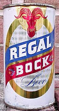 REGAL BOCK BEER Flat Top Can, San Francisco, CALIFORNIA